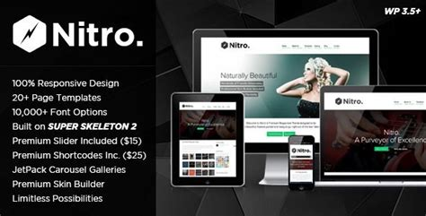 themeforest nitro 199 best wordpress themes images on pinterest role