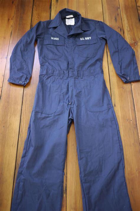 us navy s mechanic jumpsuit vintage us navy issued work jumpsuit sleeves