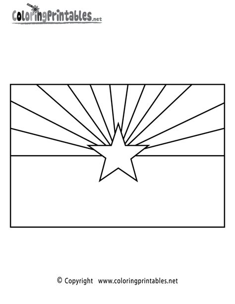 arizona flag coloring page a free travel coloring printable