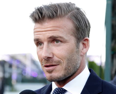 David Beckhams Softer Side by S Side Part Hairstyle Mens Craze