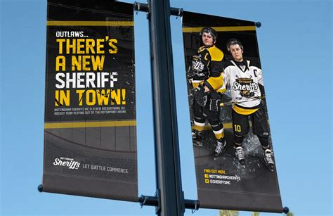 banner design nottingham ice hockey design and branding for nottingham sheriffs