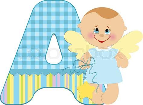 Letter Home Decor Baby S Illustrated Abc Alphabet Stock Vector Colourbox