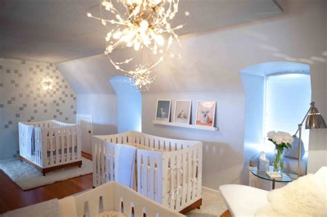 design nursery beautiful and calm modern triplets nursery design kidsomania