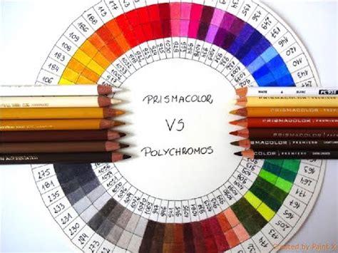 prismacolor pencil color wheel prismacolor vs faber castell polychromos colors matching