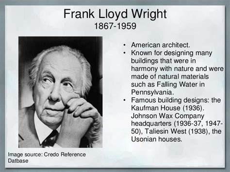 frank lloyd wright biography ppt name banner powerpoint