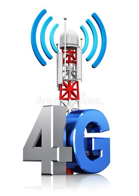 wireless communication concept stock illustration