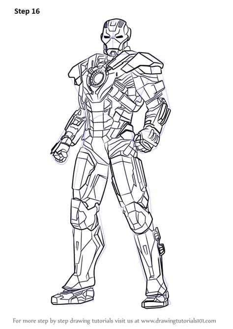 iron man mark 6 coloring pages learn how to draw iron man full body iron man step by