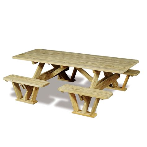 Bench To Picnic Table by Split Bench Picnic Table Plans Woodideas