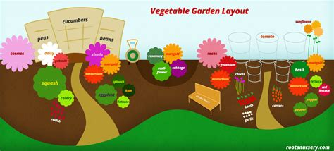 Flower And Vegetable Garden Layout Vegetable Garden Layout Free Infographic