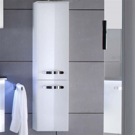 wall hung tall bathroom cabinets solitaire 7005 tall wall hung bathroom storage cabinet 2