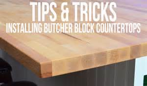 how to install butcher block countertop house plans