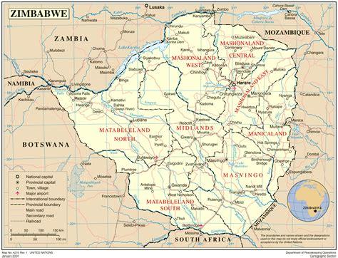 printable map of zimbabwe in africa zimbabwe cities map
