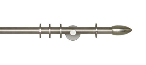 bullet curtain neo 19mm stainless steel effect curtain pole with bullet