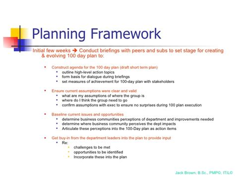 100 day plan template document exle 100 day plan for directing a pmo