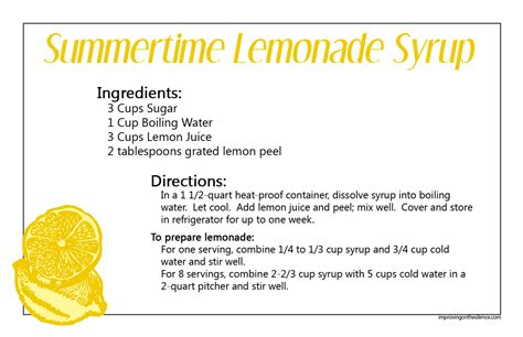 printable lemon recipes ice cold lemonade