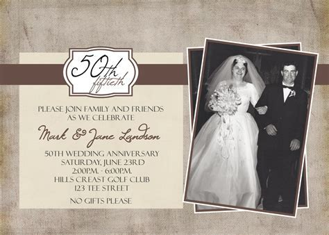 50th Anniversary Photo Party Printable Invitation