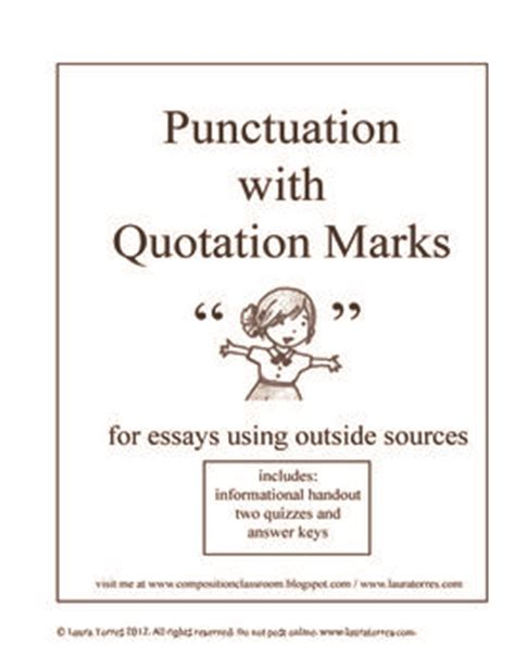 Quotation Marks In Essays by The World S Catalog Of Ideas