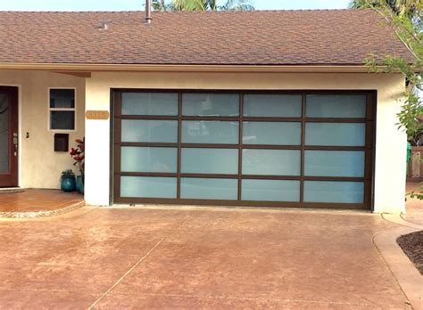Avante Collection White Laminate Glass Bronze Anodized San Diego Garage Doors