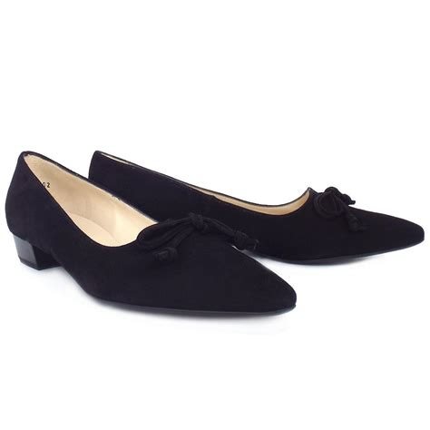 pointed toe sneakers kaiser lizzy pointed toe low heel shoes in black suede