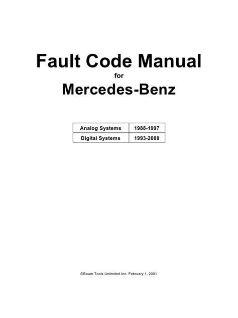 mercedes fault code manual