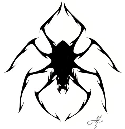tribal tattoo spider collection of 25 tribal outline spider design