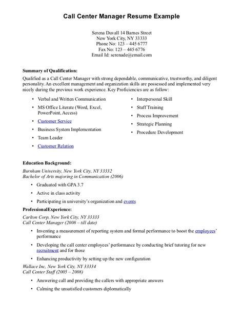 Call Center Resume Samples   Sample Resumes