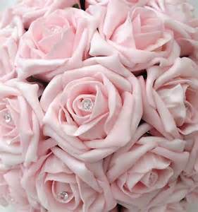 Pics photos wedding bouquet fabric flowers baby pink