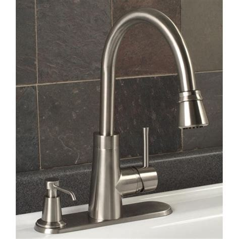 kitchen faucet soap dispenser millen pull down kitchen faucet with deck plate soap