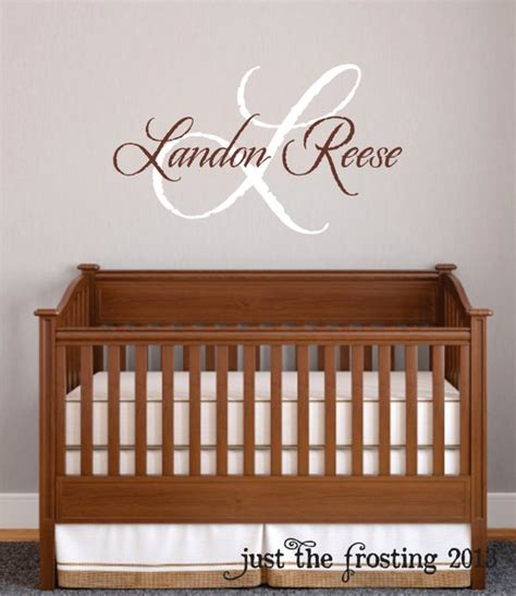 baby name wall decals for nursery baby boy nursery wall decal monogram name vinyl lettering