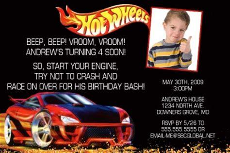 Personalized Hot Wheels Invitation Ebay Wheels Birthday Invitation Template