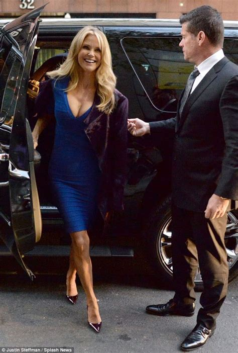 christie brinkley arrives  today show