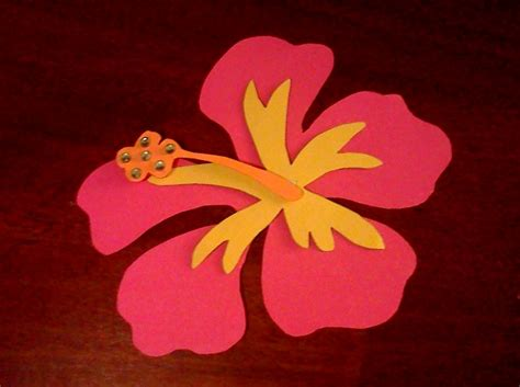 How To Make A Flower Out Of Construction Paper - hibiscus flower layered decorations today i made