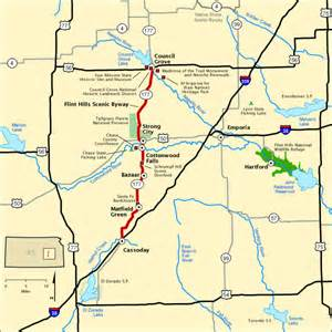 national scenic byways flint hills scenic byway map america s byways
