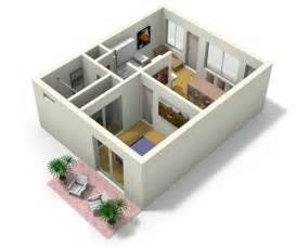 House Plans With 3d Tour by Small Apartment Design For Live Work 3d Floor Plan And Tour