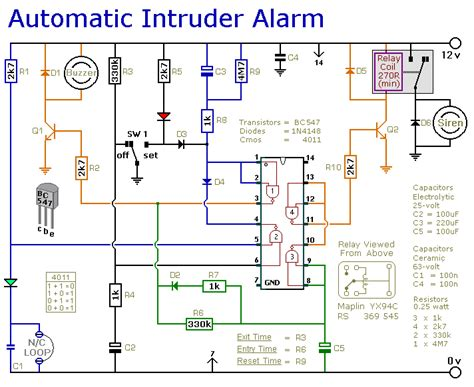 delightful simple laser security system circuit diagram