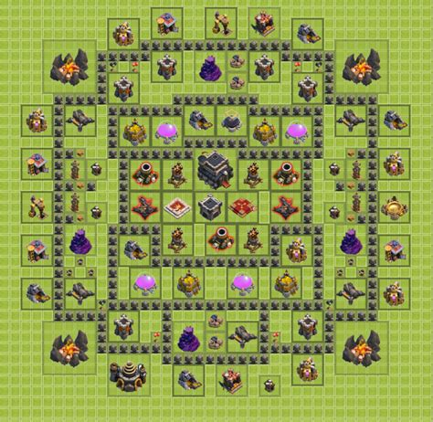 clash of clan th 9 war base 301 moved permanently