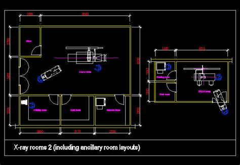 autocad room design cad drawing hospital clinic room x rooms 2 with