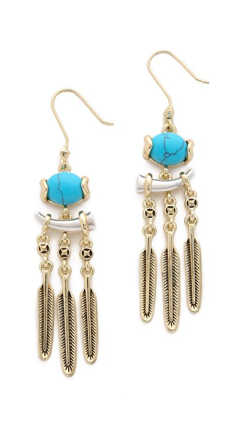House Of Harlow 1960 Ankolie Earrings Silver Turquoise In Metallic Lyst