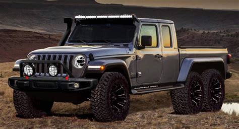 2020 Jeep Gladiator by 2020 Jeep Gladiator Gains Hypothetical 6x6 Variant Carscoops