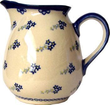 Green Leaf Teko Water Jug 4 L boleslawiec pottery unikat 1l pitcher water or milk