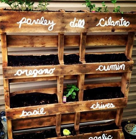 diy herb garden planter best 25 herb garden pallet ideas on pallet