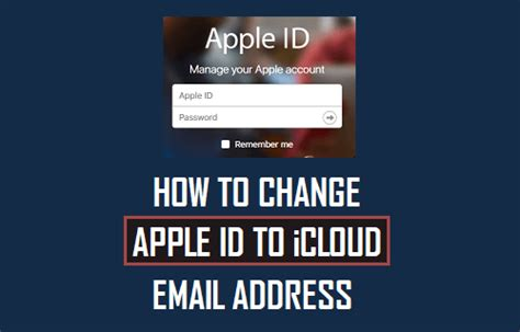 Icloud Email Address Search How To Change Apple Id To Icloud Email Address