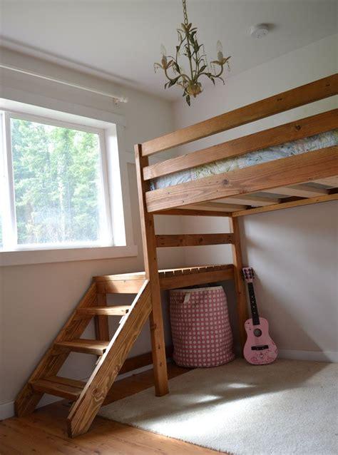 ana white camp loft bed  stair junior height diy