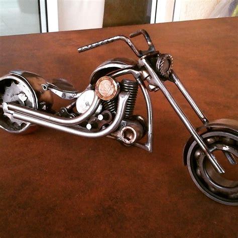 Motorrad Modell Basteln by Charly 34 Motor Recup Miniatur Basteln Aus Schrauben
