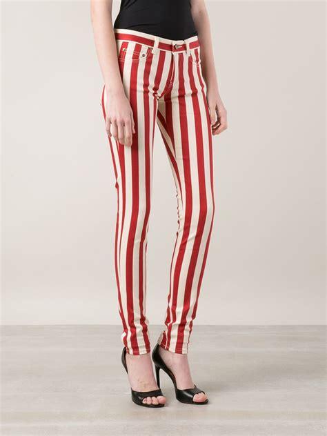 St Denim Stripe lyst laurent striped in