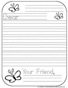 letter writing template for grade 3 free letter writing outline paper great for a friendly