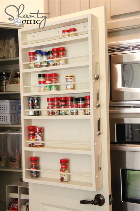 diy pantry spice rack pantry ideas diy door spice rack shanty 2 chic