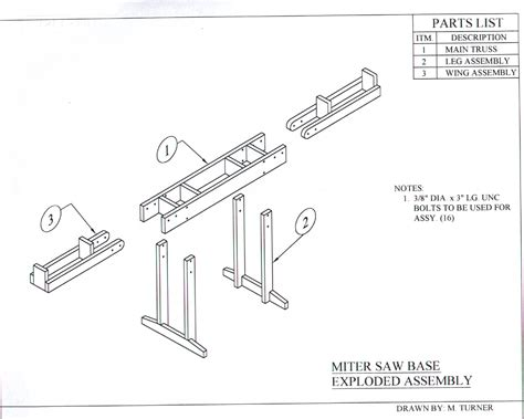 chop saw bench plans miter saw bench