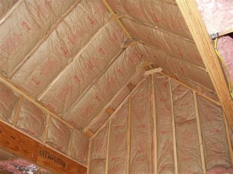 Insulation Of Vaulted Ceiling Here S The Progress With How To Insulate Vaulted Ceiling