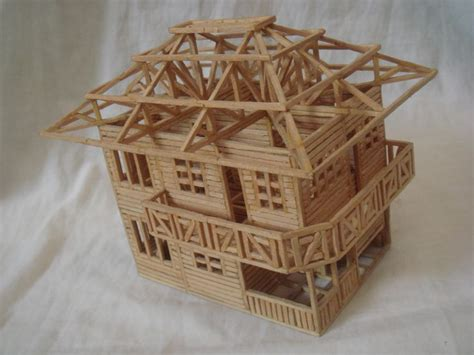 toothpick house house made out of matchsticks match toothpicks